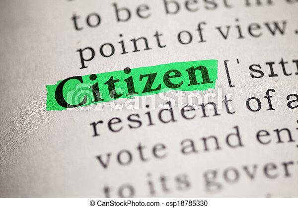 cidadão - csp18785330