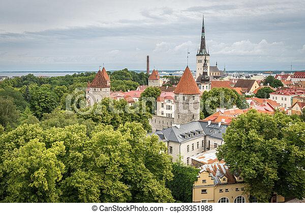 cidade, antigas, tallinn, estónia - csp39351988