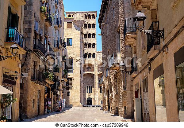 Cidade Barcelona Antigas Espanha Predios Antigas Museu Gotic Historico Barri Barcelona Quarto Espanha Canstock