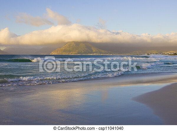 cidade, capa, praia, longo - csp11041040