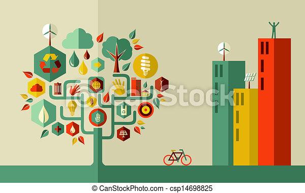cidade, conceito, verde - csp14698825