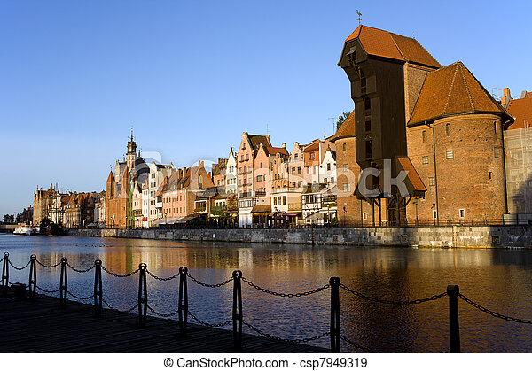 cidade, gdansk - csp7949319
