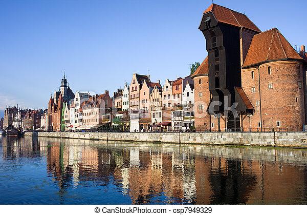 cidade, gdansk - csp7949329