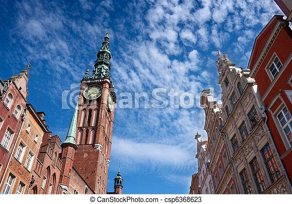 cidade, gdansk, hal - csp6368623