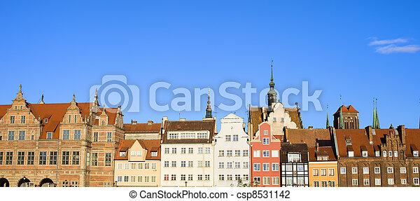 cidade, gdansk, panorama - csp8531142