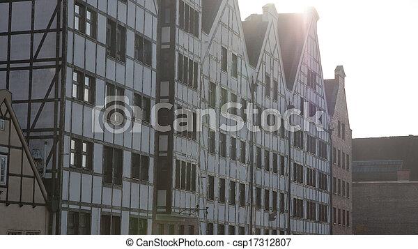 cidade, gdansk, polônia, antigas - csp17312807