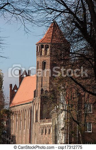cidade, gdansk, polônia, antigas - csp17312775