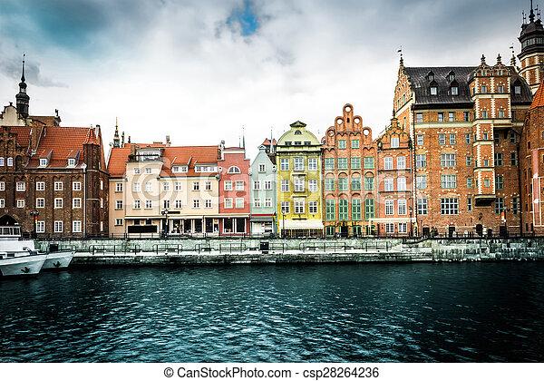 cidade, histórico, gdansk - csp28264236