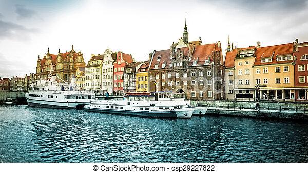 cidade, histórico, gdansk - csp29227822