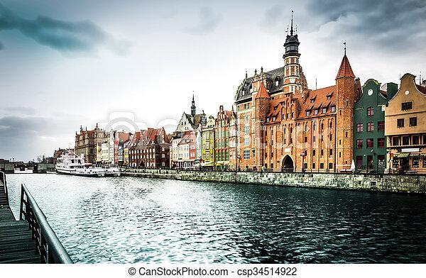 cidade, histórico, gdansk - csp34514922