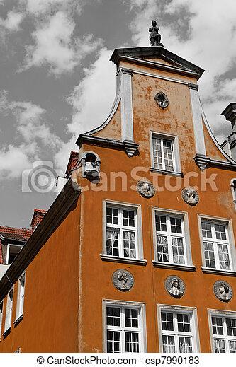 cidade, histórico, gdansk - csp7990183