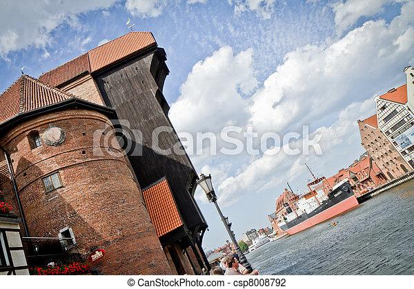 cidade, histórico, gdansk - csp8008792
