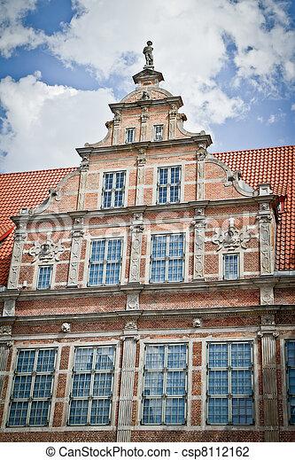 cidade, histórico, gdansk - csp8112162