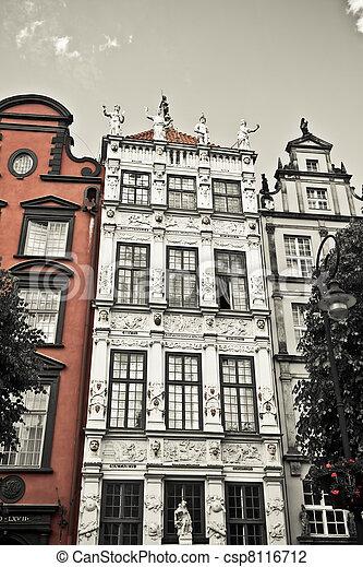 cidade, histórico, gdansk - csp8116712