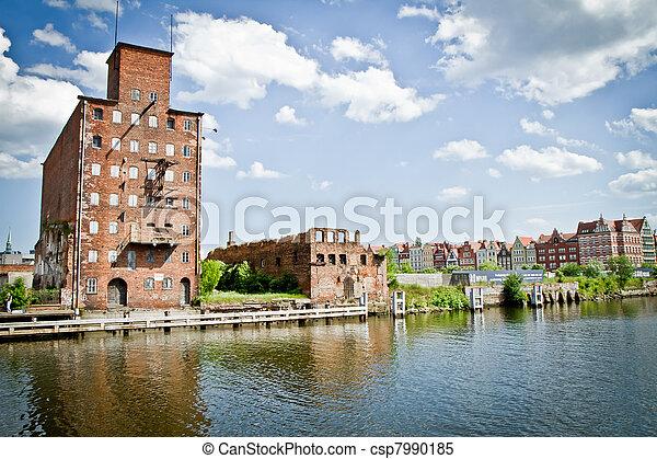 cidade, histórico, gdansk - csp7990185