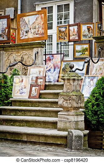 cidade, histórico, gdansk - csp8196420