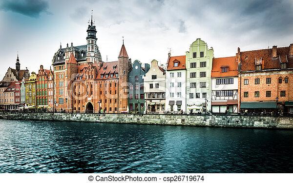 cidade, histórico, gdansk - csp26719674