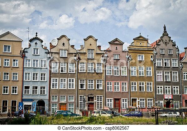 cidade, histórico, gdansk - csp8062567