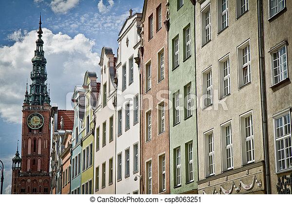 cidade, histórico, gdansk - csp8063251