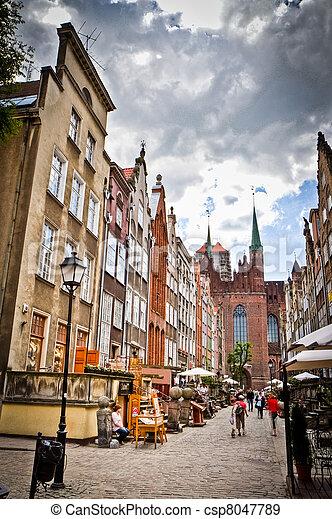 cidade, histórico, gdansk - csp8047789