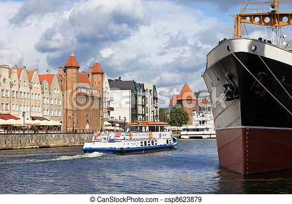 cidade, polônia, gdansk - csp8623879