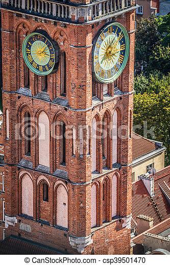 cidade, polônia, principal, gdansk, corredor - csp39501470