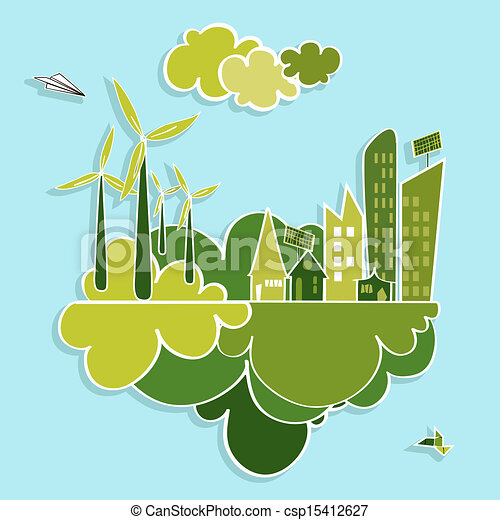 cidade, verde, renovável, resources. - csp15412627