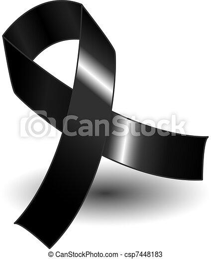 cień, czarnoskóry, świadomość, wstążka - csp7448183