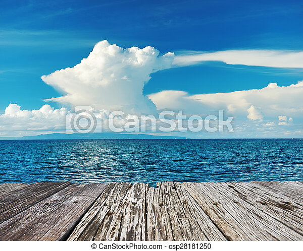 ciel, au-dessus, mer - csp28181250