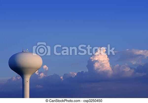 ciel bleu, américain, réservoir, eau - csp3250450
