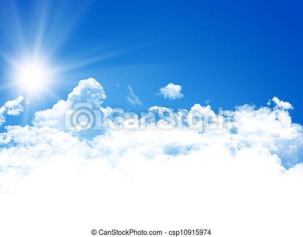 ciel bleu, fond - csp10915974