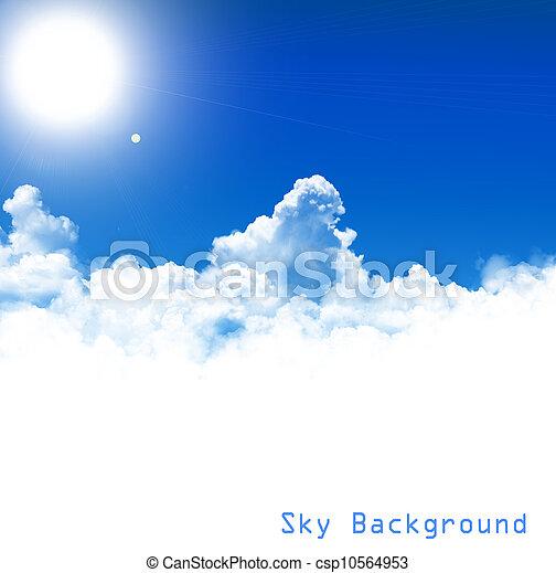ciel bleu, fond - csp10564953