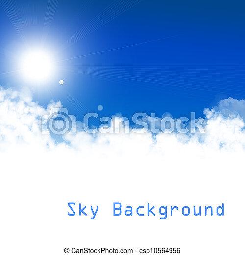 ciel bleu, fond - csp10564956
