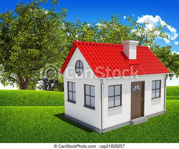 Ciel Bleu Maison For T Verte Champ Ciel Bleu Maison