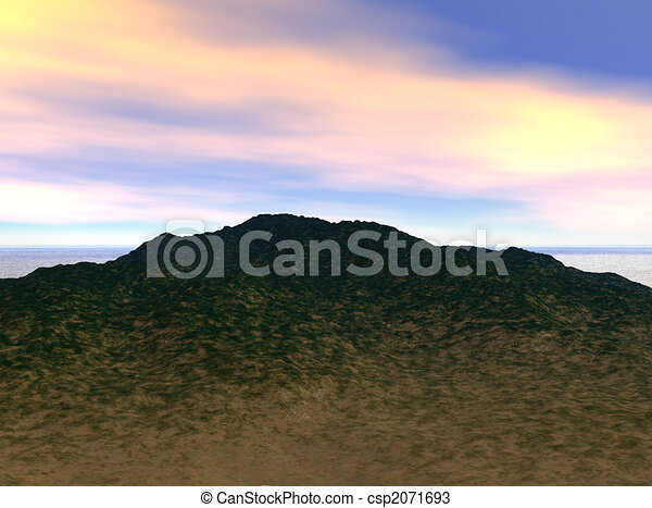 ciel, colline - csp2071693