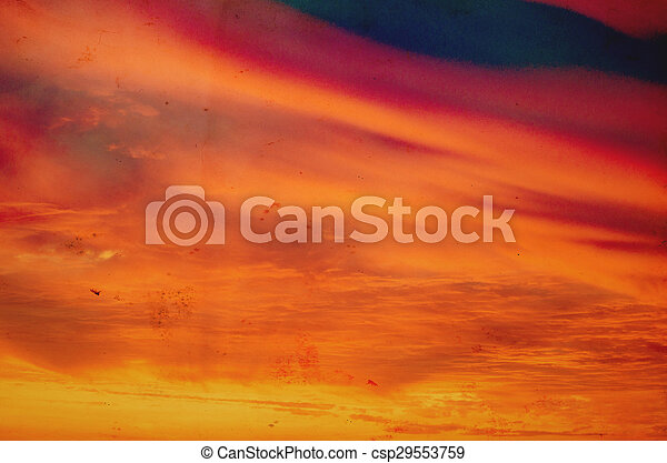 ciel coucher soleil - csp29553759