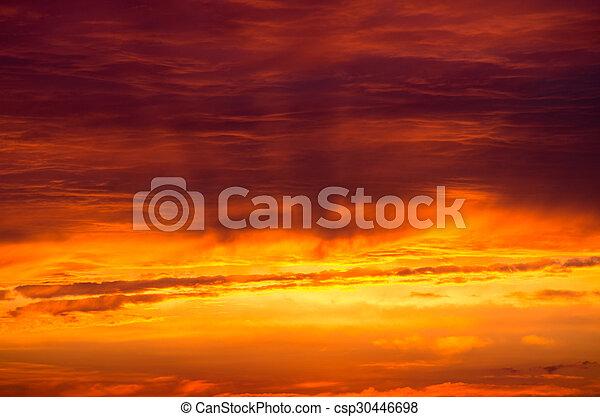 ciel coucher soleil - csp30446698