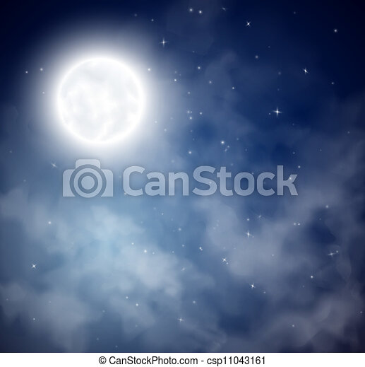 ciel, fond, nuit - csp11043161