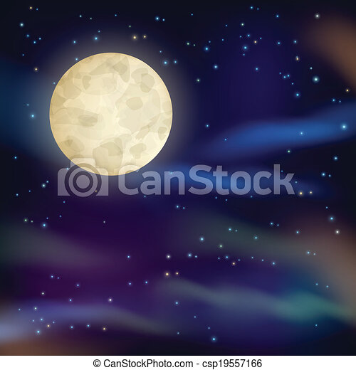 ciel, fond, nuit - csp19557166