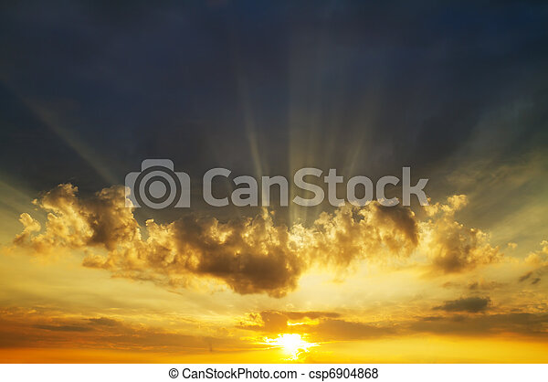 ciel, levers de soleil - csp6904868