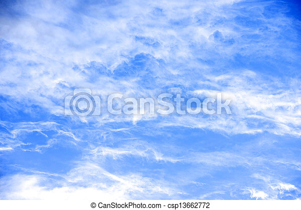 ciel, nuages blancs, beauté, paisible - csp13662772