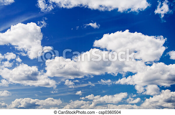 ciel, nuages - csp0360504