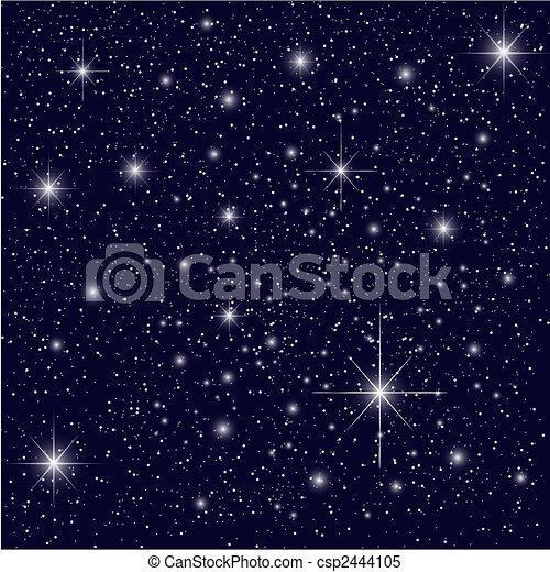 ciel, nuit - csp2444105