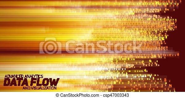cielna, abstrakcyjny, wektor, dane, visualization. - csp47003343