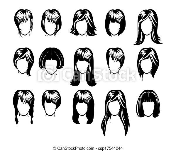 cielna, fryzura, zbiór - csp17544244