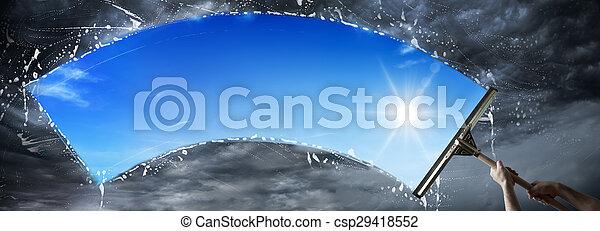 cielo, -, ambiente, lavare, pulito, mio - csp29418552