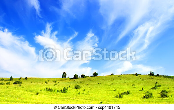 cielo azul, colinas - csp4481745