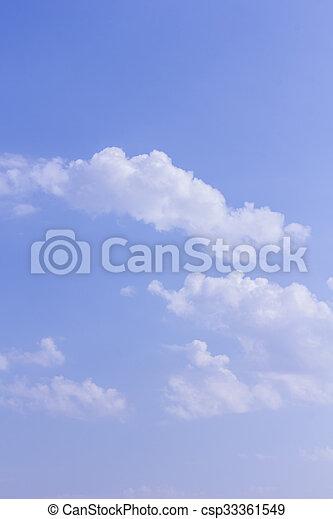 Coluds con cielo azul - csp33361549