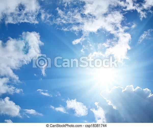 Cielo azul - csp18381744