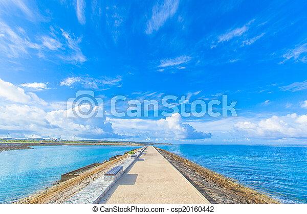 Mar azul y cielo - csp20160442